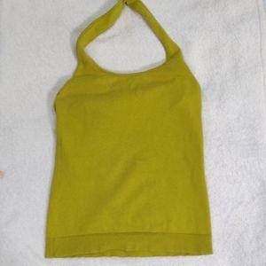 ISAAC MIZRAHI Halter stretch knit top sz sm